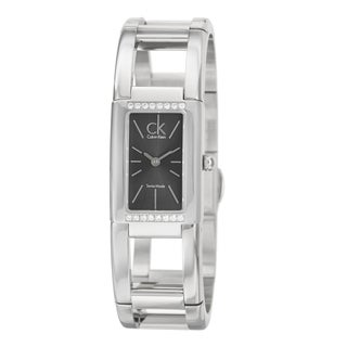 Calvin Klein Women's 'Dress' Stainless Steel Swiss Quartz Diamond Accent Watch