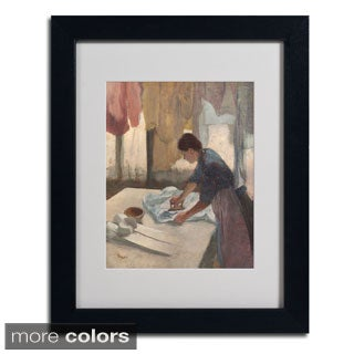 Edgar Degas 'Woman Ironing 1876-87' Framed Matted Art
