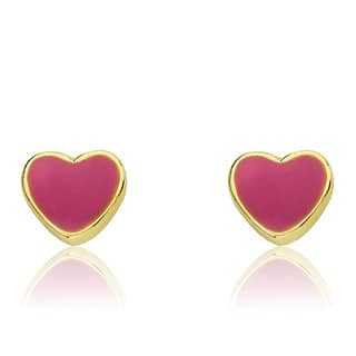 Little Miss Twin Stars 14K Gold Plated Hot Pink Heart Earrings|https://ak1.ostkcdn.com/images/products/8584788/Little-Miss-Twin-Stars-14K-Gold-Plated-Hot-Pink-Heart-Earrings-P15857329.jpg?impolicy=medium