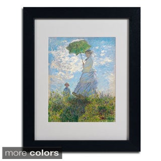 Claude Monet 'Woman With a Parasol 1875' Framed Matted Art