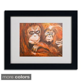 Judy Harris 'Apes' Framed Matted Art