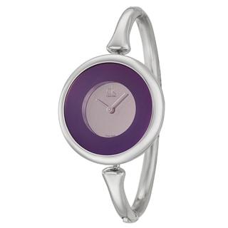 Calvin Klein Women's 'Sing' Stainless Steel Swiss-Quartz Bangle Watch