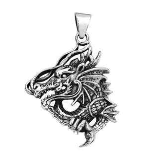Detailed Clawing Dragon .925 Silver Pendant (Thailand)