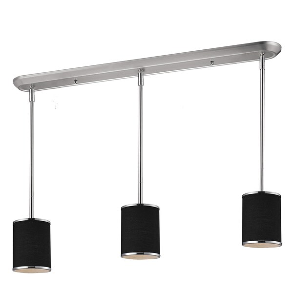 Avery Home Lighting 3-light Chrome Island/ Billiard Fixture