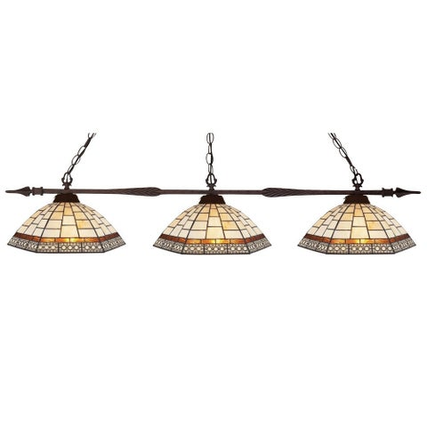 Avery Home Lighting 3-light Billiard with Multicolored Shades