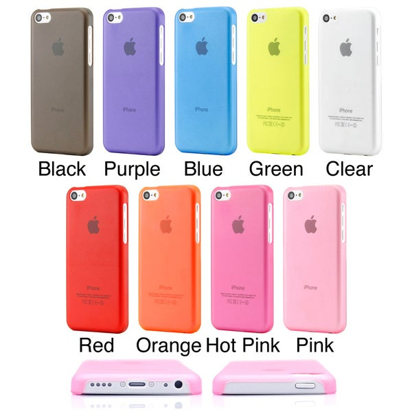 Gearonic Matte Clear Ultra Thin PC Back Case Cover for iPhone 5C