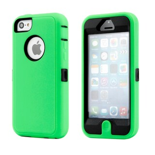 Gearonic 3 Piece Hybrid Hard PC Soft Silicone Case Cover for iPhone 5C