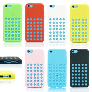 Gearonic Slim Silicone Holes Design back cover case for iPhone 5C