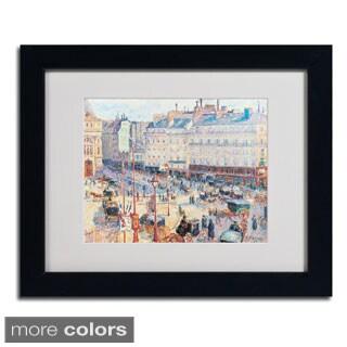 Camille Pissarro 'Place du Havre 1893' Framed Matted Art