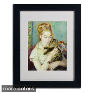 Pierre Renoir 'Woman With a Cat 1875' Framed Matted Art