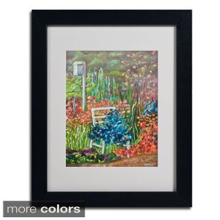 Judy Harris 'Serene Garden' Framed Matted Art