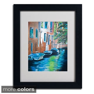 Judy Harris 'Venice Boats' Framed Matted Art