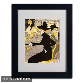 Henri Toulouse-Lautrec 'Divan Japonais' Framed Matted Art