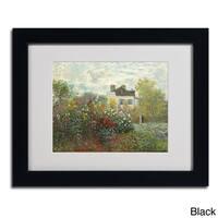 Claude Monet 'The Artist's Garden' Framed Matted Art