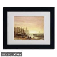Albert Bierstadt 'The Fishing Fleet 1862' Framed Matted Art