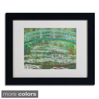 Claude Monet 'The Japanese Footbridge' Framed Matted Art