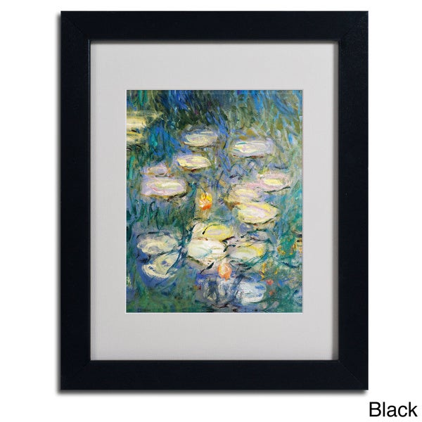 Claude Monet Water Lilies V 1840 1926 Framed Matted Art