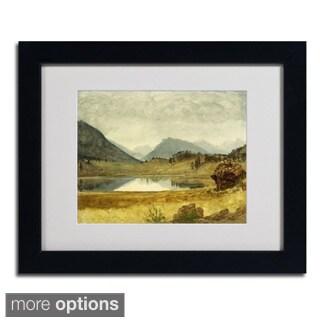 Albert Bierstadt 'Wind River Country' Framed Matted Art
