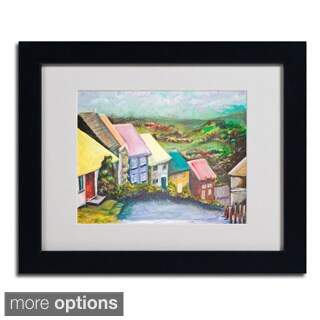 Judy Harris 'English Countryside' Framed Matted Art