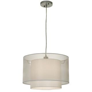 Trend by Acclaim Lighting Brella Silver Pendantwith 2-Tier Shade