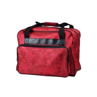Janome Universal Sewing Machine Durable Canvas Red Tote Bag