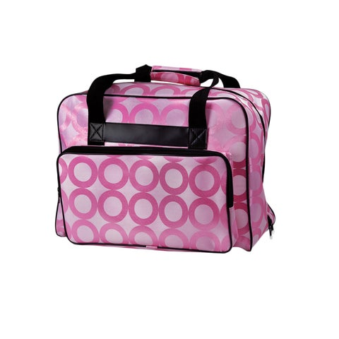 Janome Universal Sewing Machine Durable Canvas Pink Tote Bag