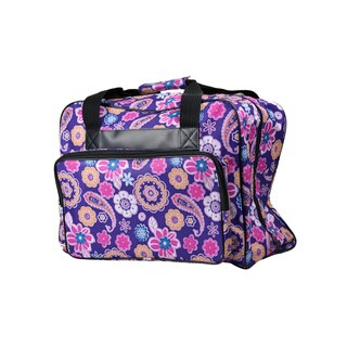 Janome Universal Sewing Machine Durable Canvas Purple Tote Bag