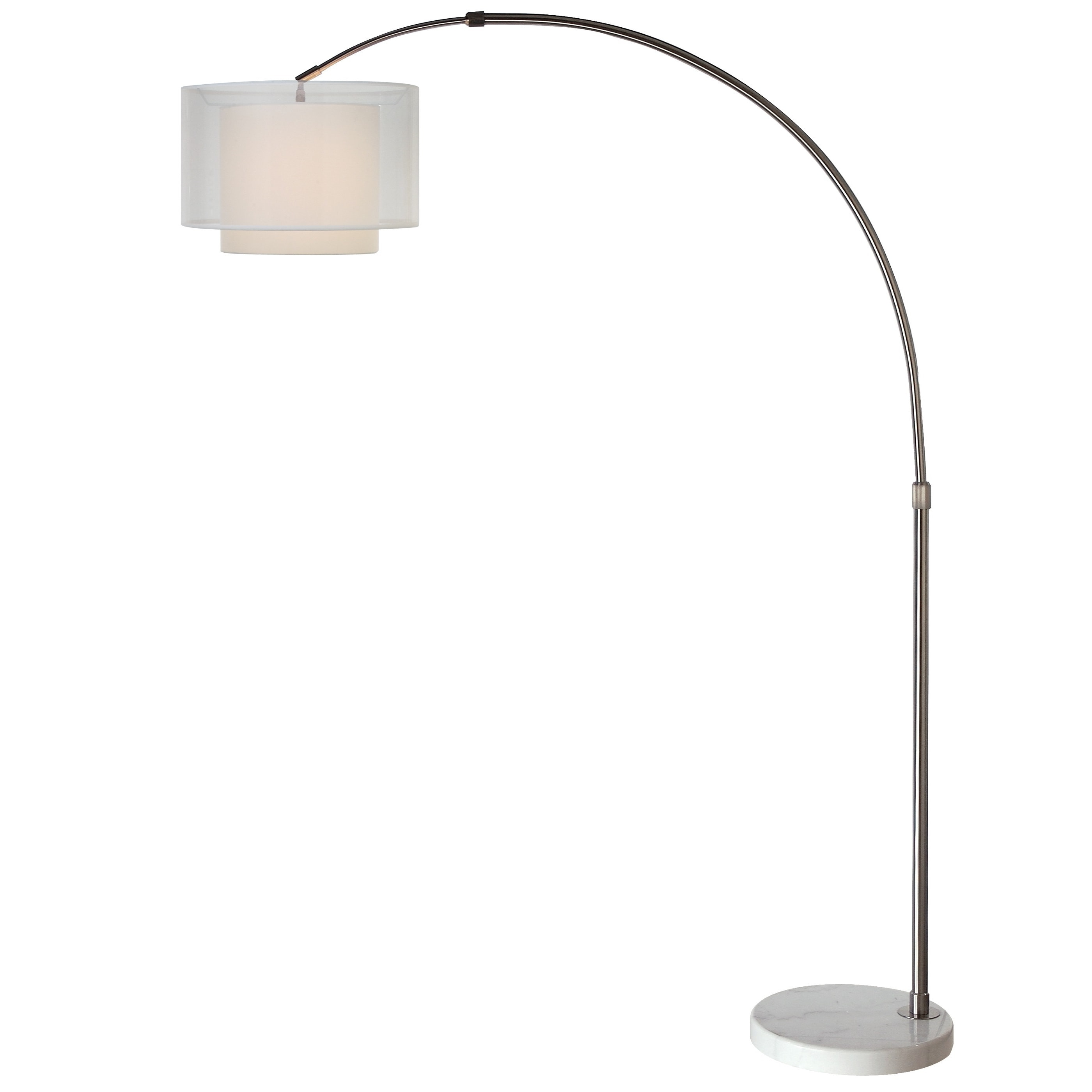 Brella 1 Light Brushed Nickel Arc Floor Lamp