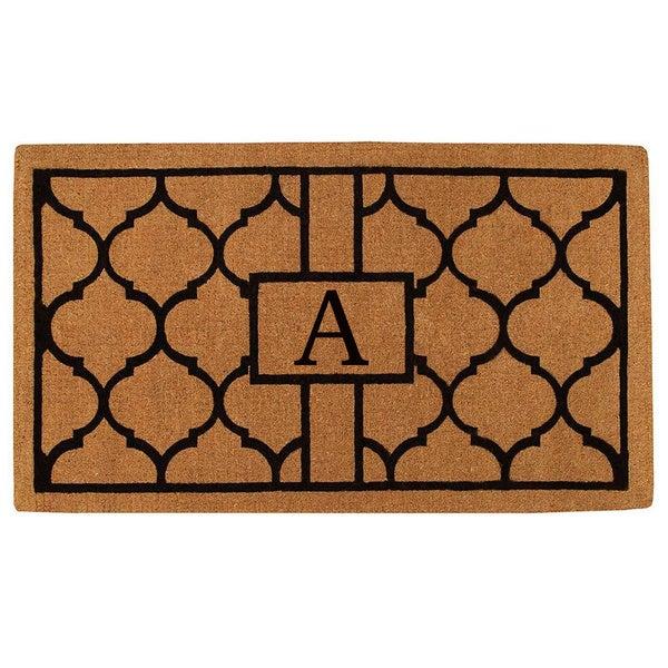Shop Pantera Monogrammed Extra Thick Coir Doormat 3 X 6