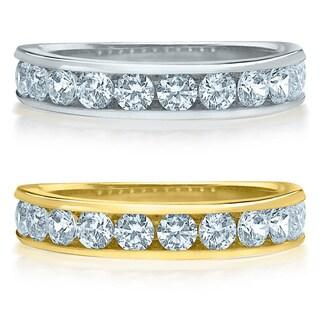 Amore 14k Gold 1ct TDW Machine-set Diamond Wedding Band (H-I, I1-I2)