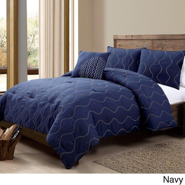 VCNY Nora Embroidered 4-piece Comforter Set