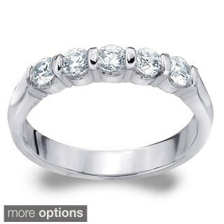 Amore 14k White or Yellow Gold 1/2ct TDW Diamond Wedding Band (More options available)