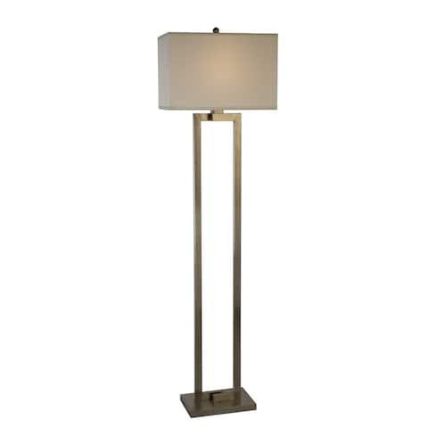 Riley 1-light Brushed Nickel Floor Lamp