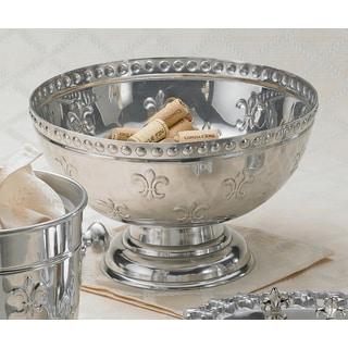 Fleur-de-lis Aluminum Punch Bowl
