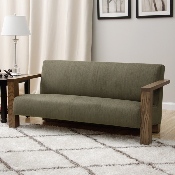 Grey Woven Fabric Sofa