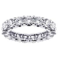 14k White Gold 3 2/5 - 3 4/5ct TDW Diamond Eternity Band