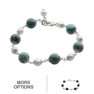 Pearls For You Sterling Silver White Freshwater Pearl Bracelet (6-7 mm)