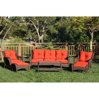 6-piece Resin Wicker Patio Conversation Set