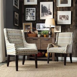 INSPIRE Q Jourdan Diamond Impressions Sloped Arm Hostess Chair