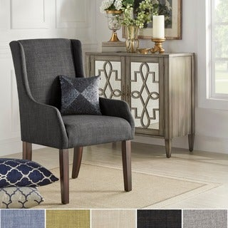 INSPIRE Q Jourdan Linen Sloped Arm Hostess Chair
