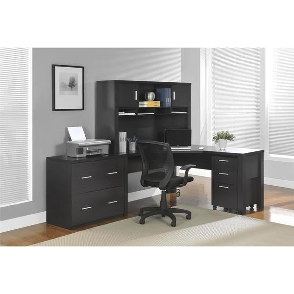 Ameriwood Home Princeton Espresso L-desk
