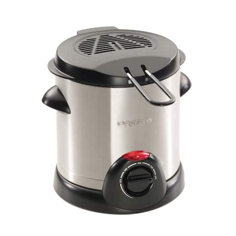Presto Stainless Steel Electric Deep Fryer with Brushed Exterior