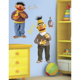 Sesame Street Burt and Ernie Peel and Stick Giant Wall Decal