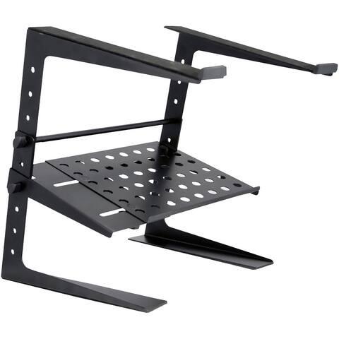 Pyle Laptop Computer Stand For DJ W/Storage Shelf