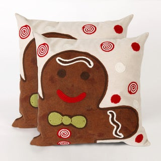 Ginger Gent 20-inch Throw Pillows (Set of 2)