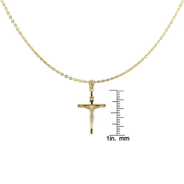 Mia Diamonds 14k Gold Two-tone Polished Crucifix Pendant