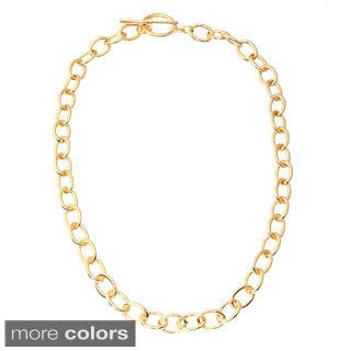 Simon Frank 20-Inch 10 Mm Oval Link Toggle Necklace