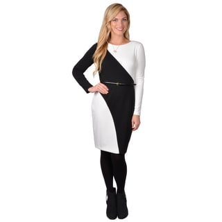 Calvin Klein Women's Long Sleeve Colorblocked Dress