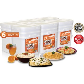 Relief Foods 6 Month Entrees Emergency Food Supply (780 Servings)