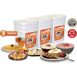 Relief Foods 3 Month Entree and Breakfast Food Supply (390 Servings)